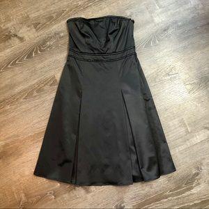 NWT Strapless Satin Cocktail Dress
